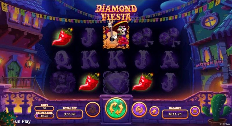 Diamond Fiesta :: A four of a kind win