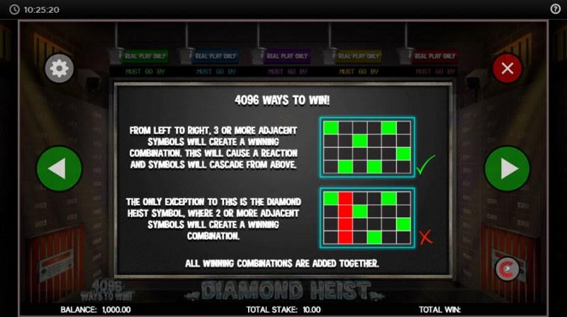 Diamond Heist :: 4096 Ways to Win