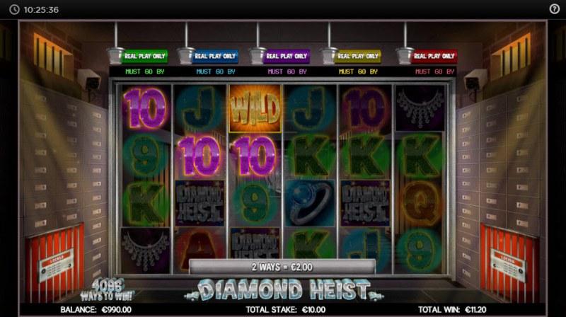 Diamond Heist :: Three of a kind win