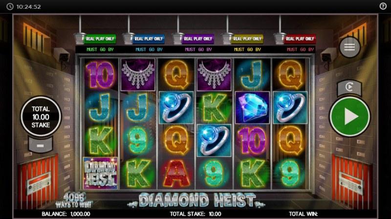 Diamond Heist :: Main Game Board