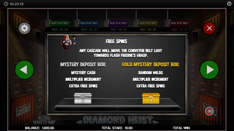 Diamond Heist :: Free Spins Rules