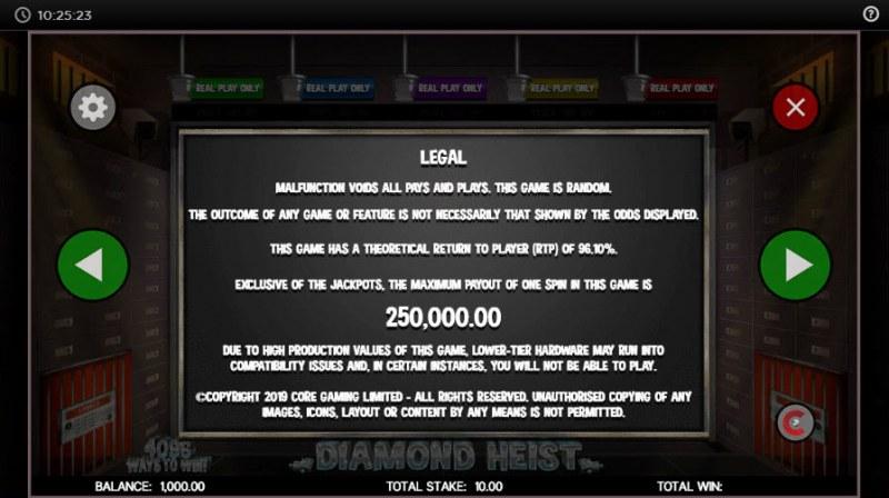 Diamond Heist :: Legal