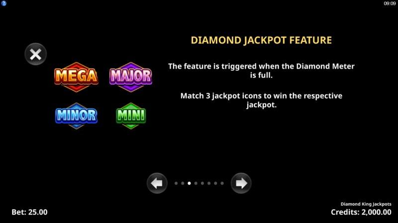 Diamond King Jackpots :: Diamond Jackpot Feature
