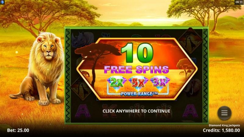 Diamond King Jackpots :: 10 free spins awarded