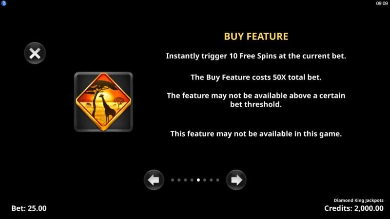Diamond King Jackpots :: Buy Feature