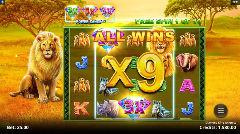 Diamond King Jackpots :: X9 win multiplier