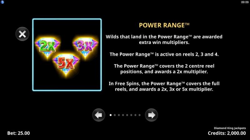 Diamond King Jackpots :: Power Range