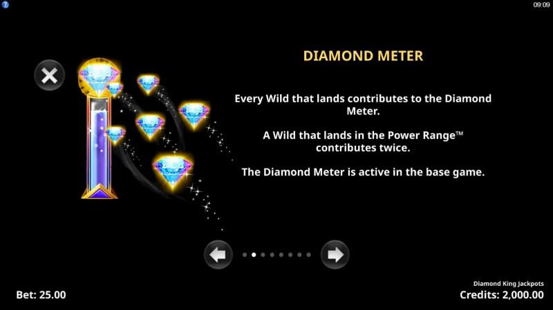 Diamond King Jackpots :: Diamond Meter
