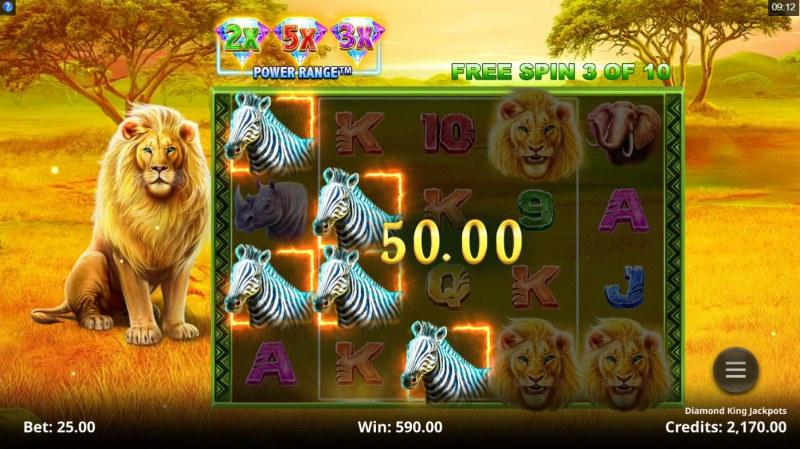Diamond King Jackpots :: Multiple winning combinations