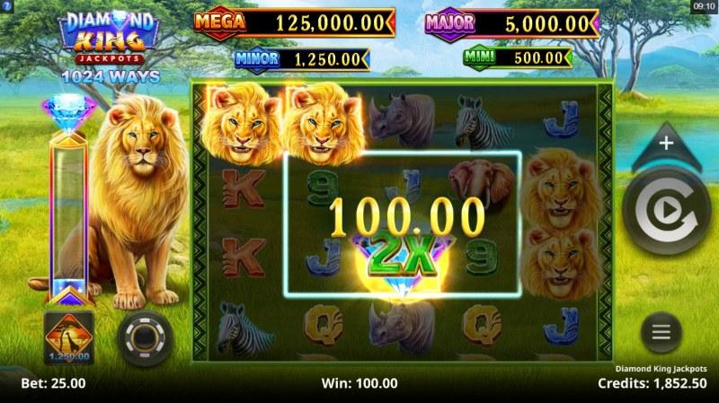 Diamond King Jackpots :: 2x Multiplier awarded