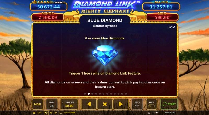 Diamond Link Mighty Elephant :: Blue Diamond