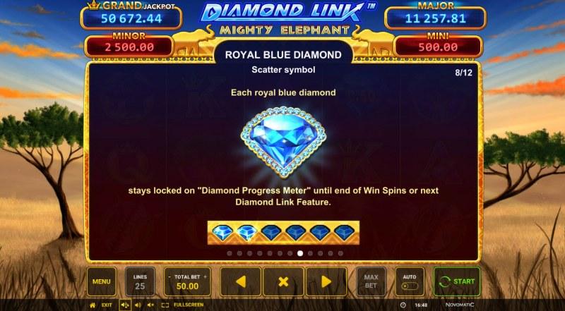 Diamond Link Mighty Elephant :: Royal Blue Diamond