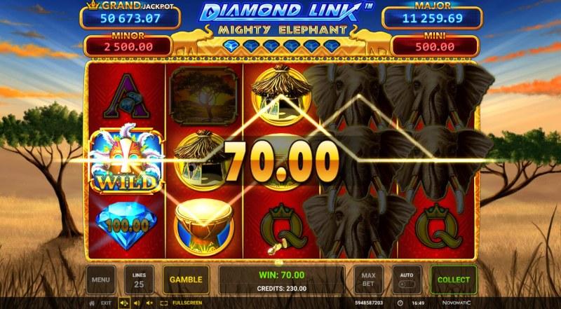 Diamond Link Mighty Elephant :: Multiple winning paylines