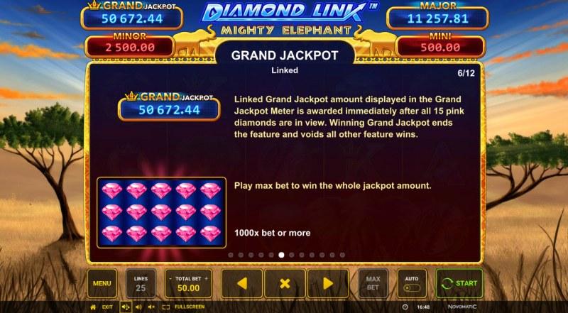 Diamond Link Mighty Elephant :: Grand Jackpot