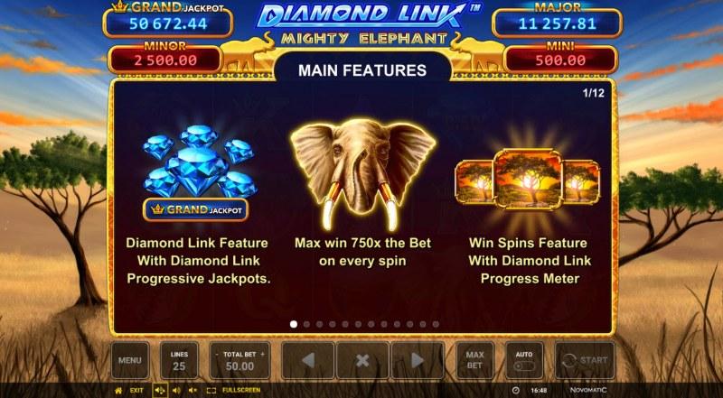Diamond Link Mighty Elephant :: Main Features