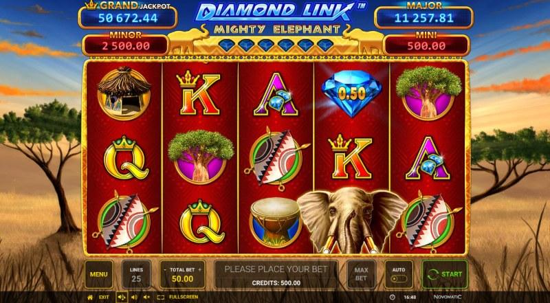 Diamond Link Mighty Elephant :: Main Game Board