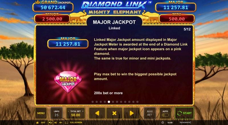 Diamond Link Mighty Elephant :: Major Jackpot