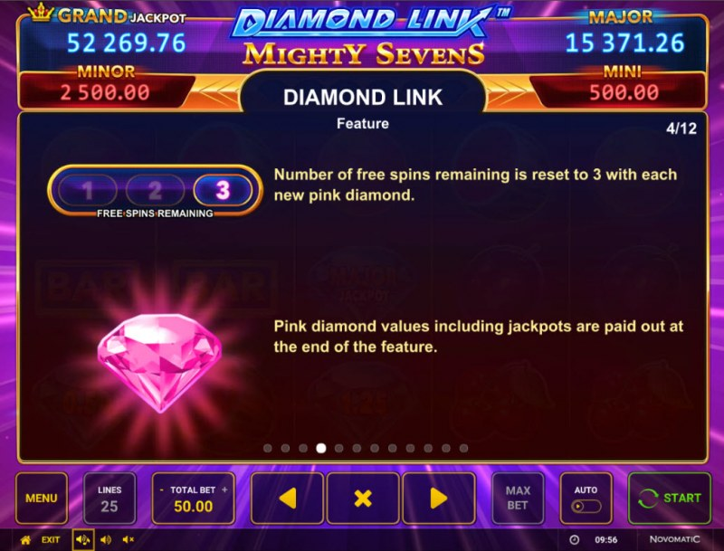 Diamond Link Mighty Sevens :: Feature Rules