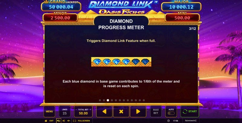 Diamond Link Oasis Riches :: Diamond Progress Meter