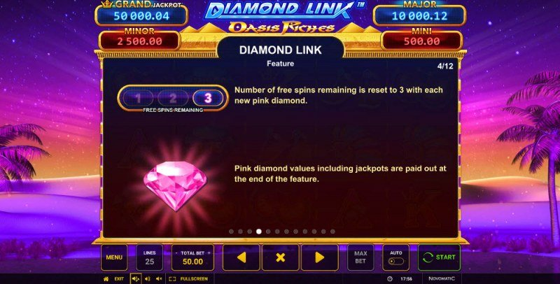 Diamond Link Oasis Riches :: Diamond Link Feature