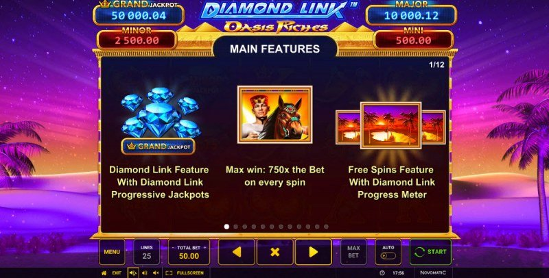 Diamond Link Oasis Riches :: Feature Rules