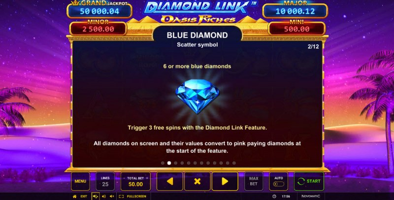 Diamond Link Oasis Riches :: Scatter Symbol Rules