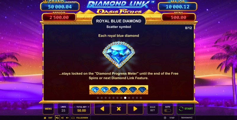 Diamond Link Oasis Riches :: Royal Blue Diamond