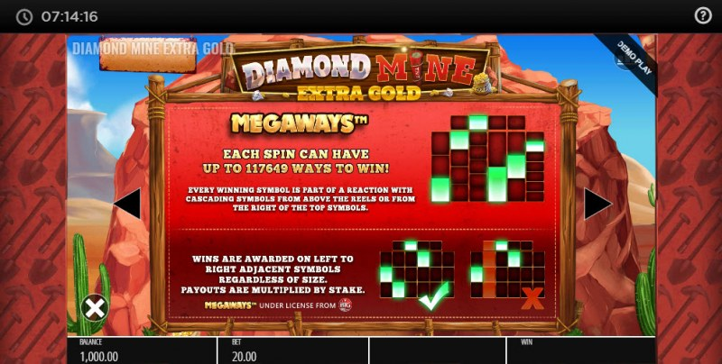 Diamond Mine Megaways :: Up to 117649 ways to win