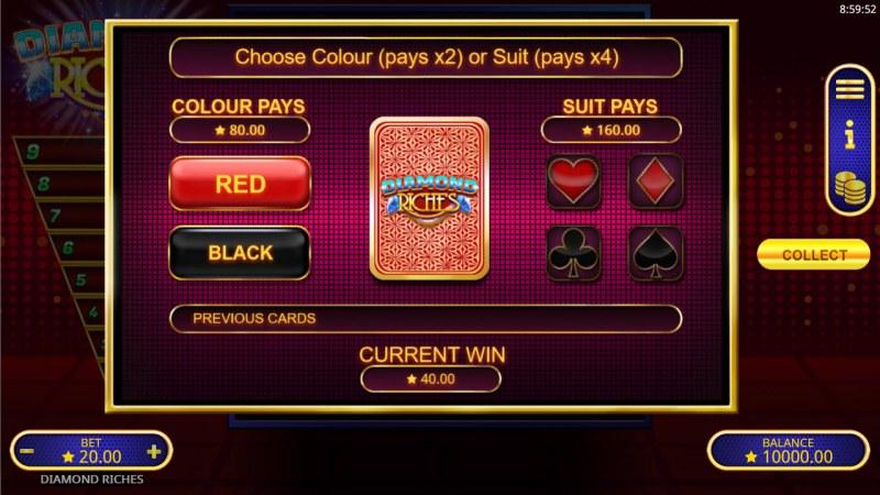 Diamond Riches :: Gamble feature