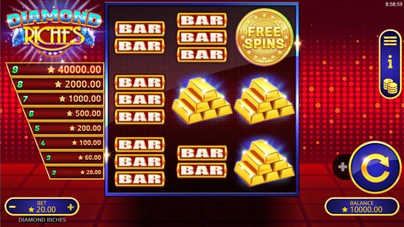 Diamond Riches :: Main Game Board
