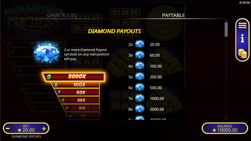 Diamond Riches :: Diamond Jackpots