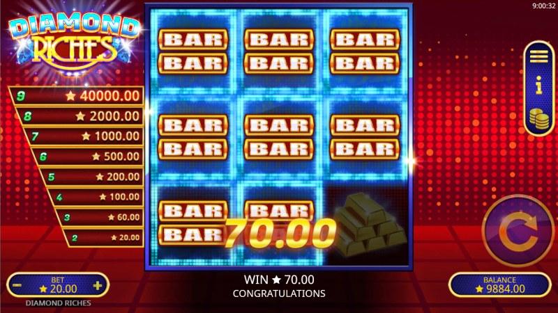 Diamond Riches :: Multiple winning paylines