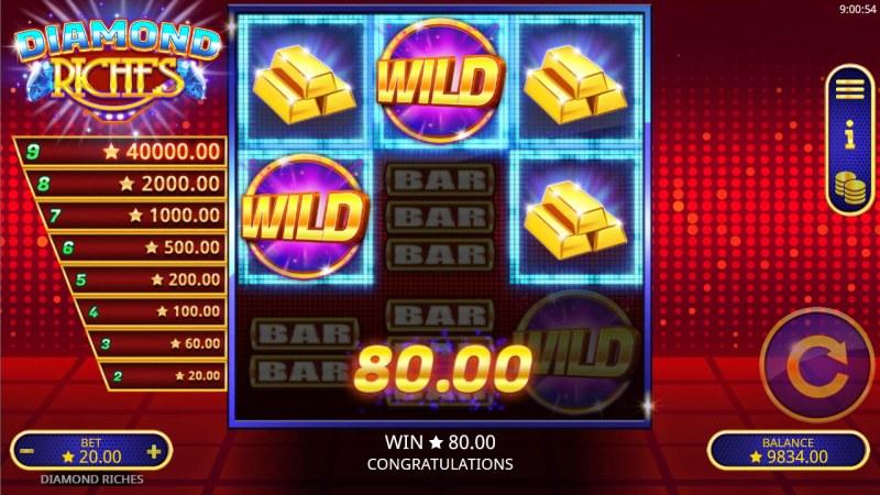 Diamond Riches :: A three of a kind win