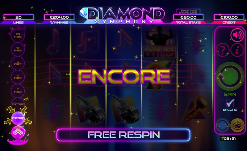 Diamond Symphony :: Encore feature triggered