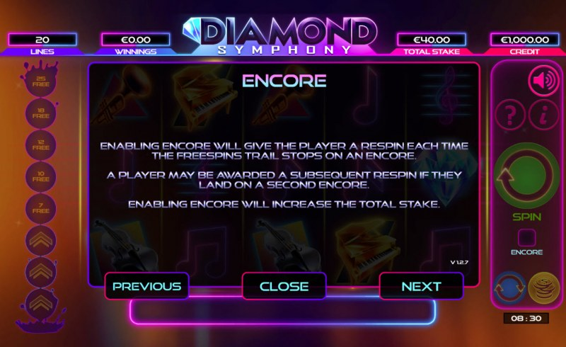 Diamond Symphony :: Feature Rules