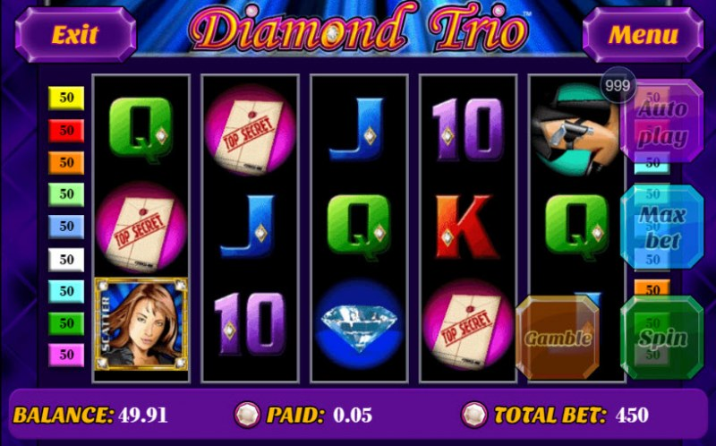 Diamond Trio :: Main Game Board