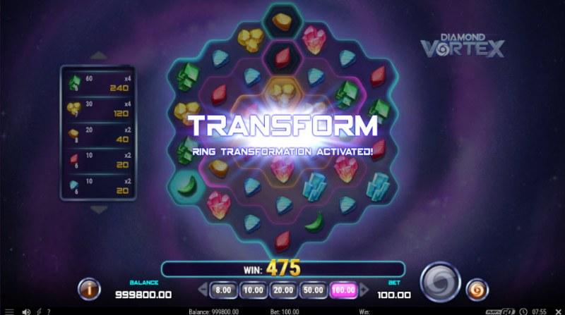Diamond Vortex :: Transform feature activated