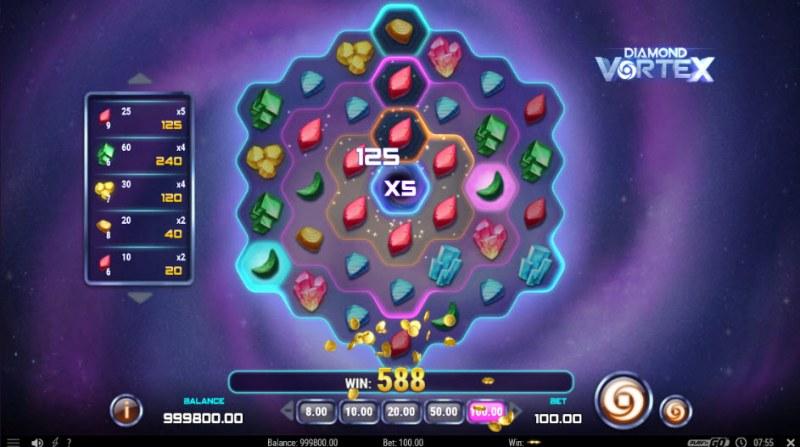 Diamond Vortex :: X5 win multiplier applied
