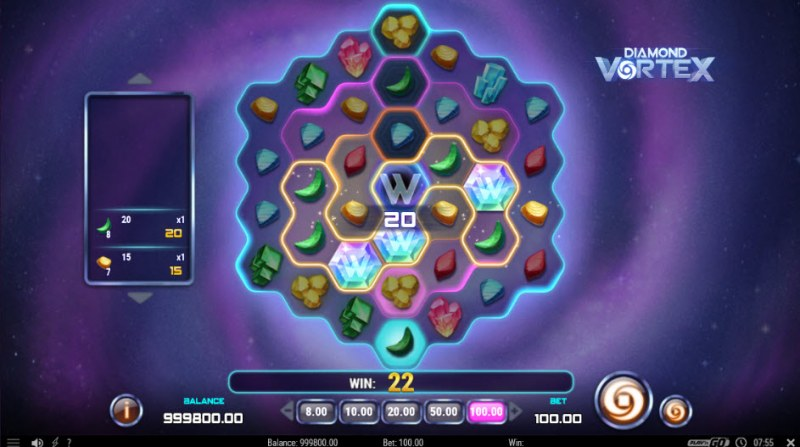 Diamond Vortex :: Multiple winning combinations