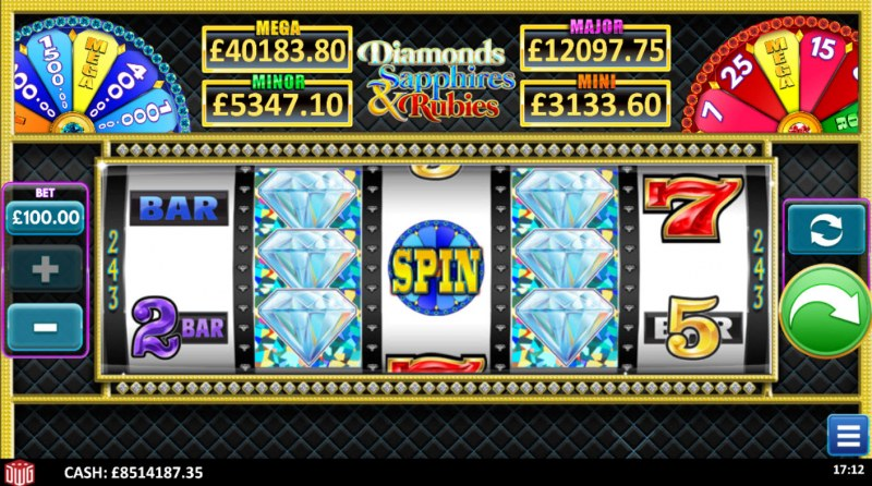 Diamonds Sapphires & Rubies :: Main Game Board