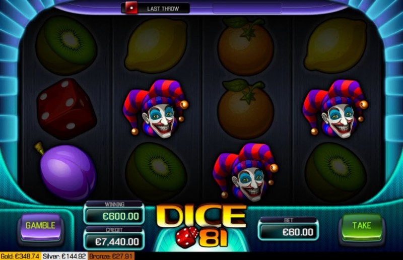 Dice 81 :: Four of a kind Win