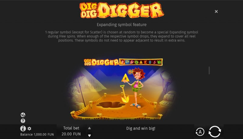 Dig Dig Digger :: Expanding Symbol Feature