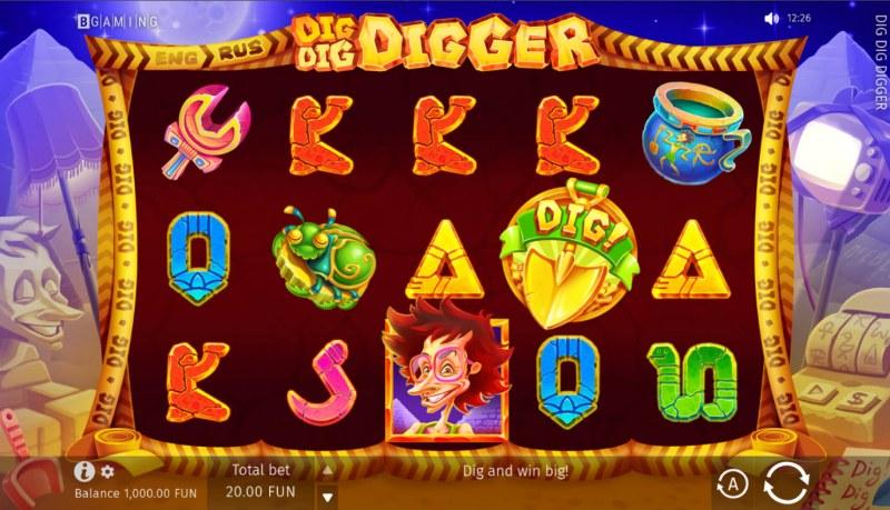 Dig Dig Digger :: Main Game Board
