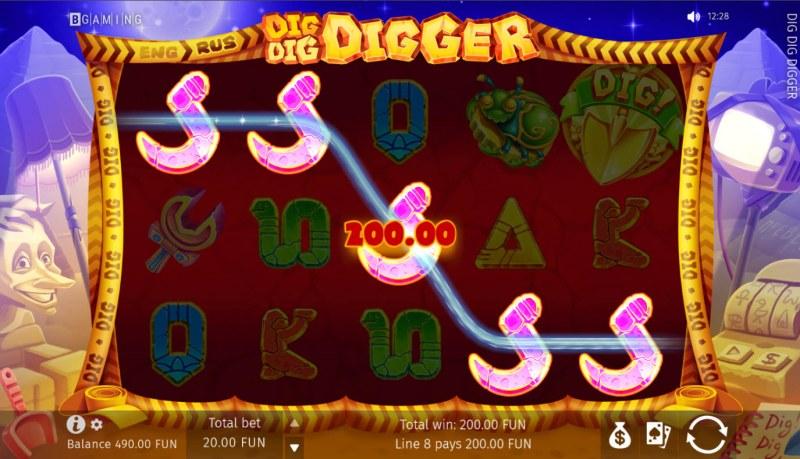 Dig Dig Digger :: A five of a kind win