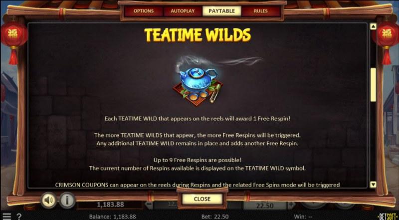 Dim Sum Prize :: Wild Symbols Rules
