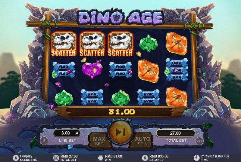 Dino Age :: Scatter Win