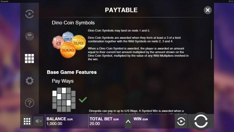 Dinopolis :: Dino Coins