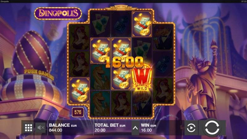 Dinopolis :: A four of a kind win