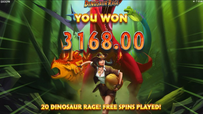 Dinosaur Rage :: Total Free Spins Payout