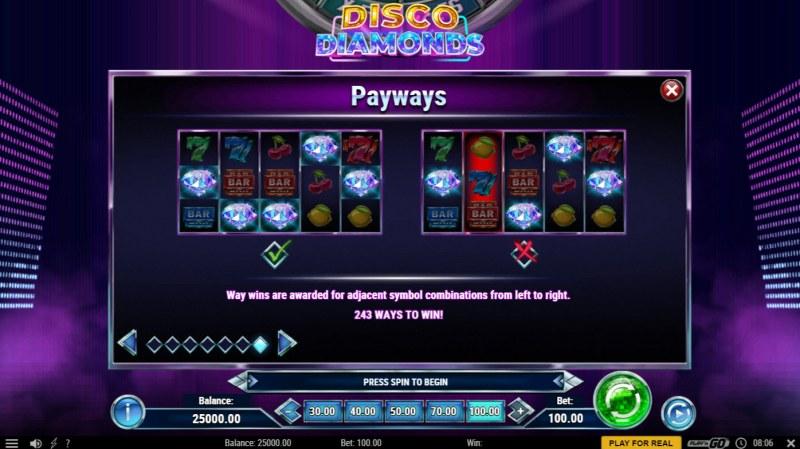 Disco Diamonds :: 243 Ways to Win